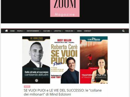 Se vuoi puoi e Le vie del successo su Zoom Magazine.it, 03/12/2019