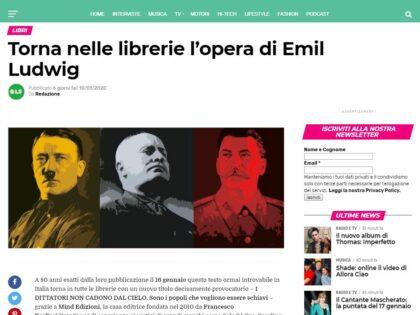 I dittatori non cadono dal cielo di Emil Ludwing su Lifestyleblog.it, 10/01/2020