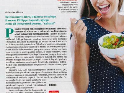 """Il libro d'oro della prevenzione di Philippe Lagarde su """"BenEssere"""", Gennaio 2020"""