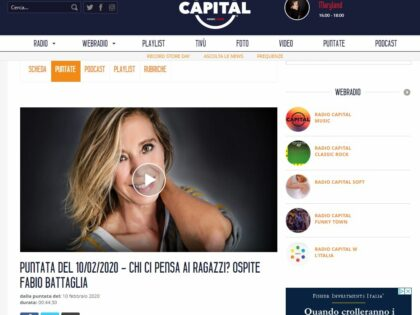 Enzo Riboni, autore di Ciao Italia! intervistato su Radio Capital, 10/02/2020