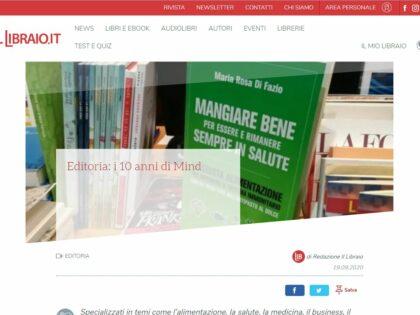 """Il decennale di Mind Edizioni su """"Il Libraio.it"""", 19/09/2020"""