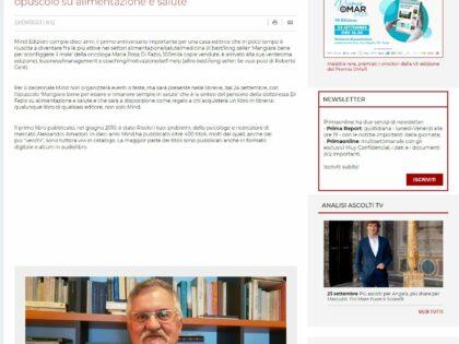 """Il decennale di Mind Edizioni su """"Prima Comunicazione"""", 23/9/2020"""