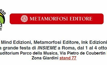 Mind Edizioni a INSIEME, Roma dal 1 al 4 ottobre 2020