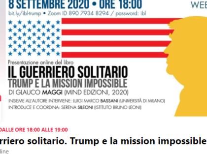 Presentazione online di Il guerriero solitario, 08/09/2020
