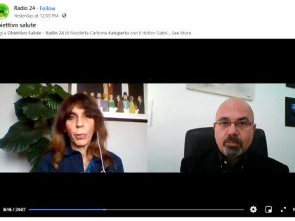 """Diretta Facebook """"ATUPERTU"""" Obiettivo salute di Nicoletta Carbone e Gabriele Prinzi, RADIO24, 20/04/2021"""